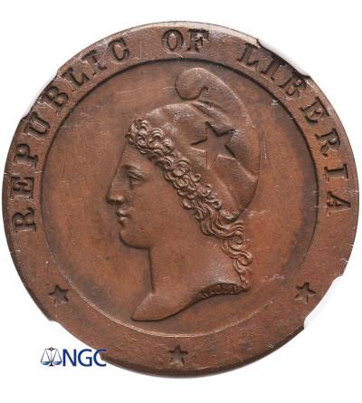 Liberia 1 cent 1862 - NGC MS 62 BN