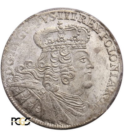 Poland. August III Ort (18 Groschen) 1755 EC, Lepzig - PCGS MS 62