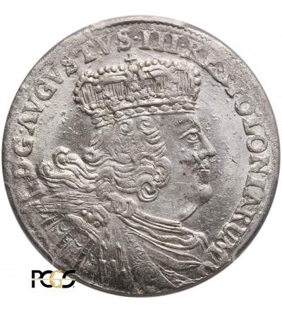 Polska, August III Sas. Ort (18 groszy) 1754 EC, Lipsk - PCGS MS 64