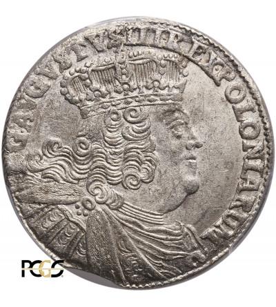 Polska, August III Sas. Ort (18 groszy) 1754 EC, Lipsk - PCGS MS 63