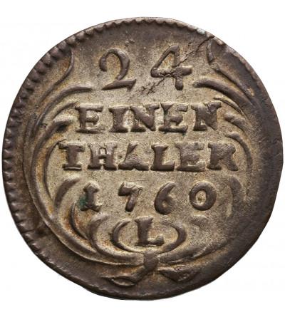 Poland / Saxony. Friedrich August II 1733-1763. Groschen 1/24 Taler 1760 L / LDC, Leipzig