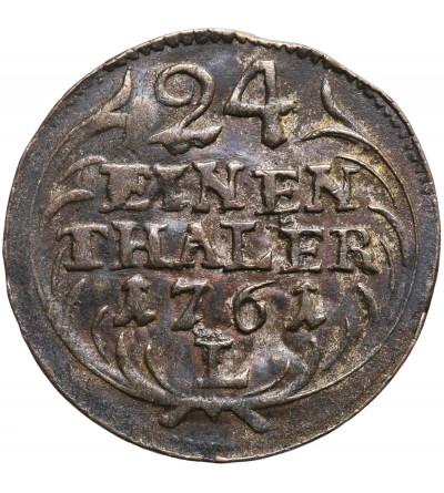Poland / Saxony. Friedrich August II 1733-1763. Groschen 1/24 Taler 1761 L / LDC, Leipzig