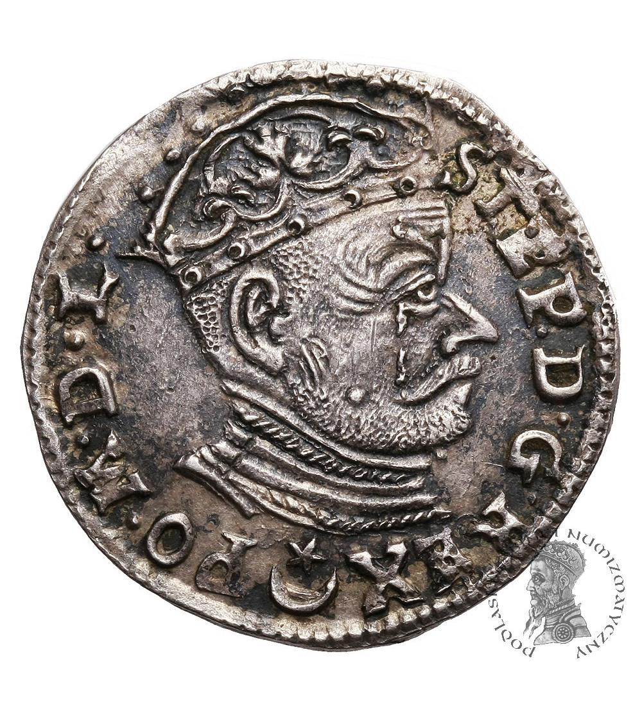 Poland/ Lithuania. Stefan Batory. Trojak (3 Grosze) 1582, Vilnius mint - Crying King