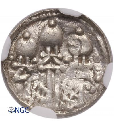 Polska. Bolesław II Śmiały (Szczodry) 1058-1080. Denar królewski ok. 1076-1079 - NGC AU Details