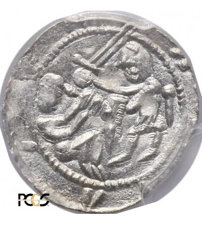 Polska. Władysław II Wygnaniec 1138-1146. Denar bez daty, orzeł i zając - PCGS MS 63