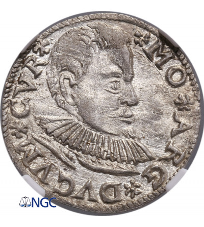 Courland / Kurland. Friedrich  Kettler 1587-1642. 3 Groschen (Dreigröscher) 1597, Mitau - NGC MS 63