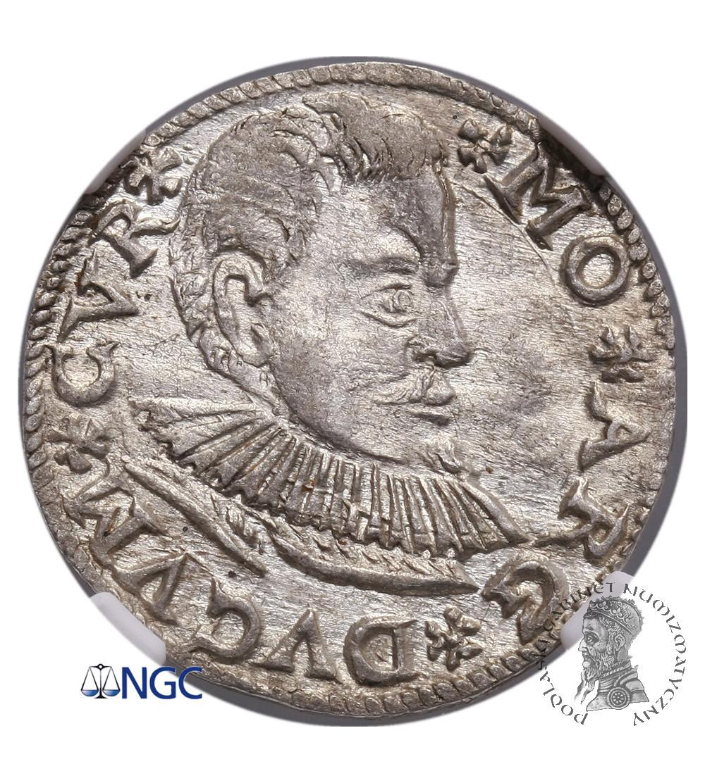 Kurlandia. Fryderyk Kettler 1587-1642. Troja (3 grosze) 1597, Mitawa - NGC MS 63