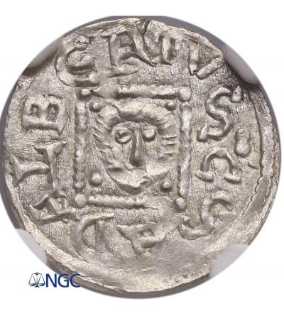 Poland. Boleslaw IV Kedzierzawy (Boleslaus IV The Curly) 1146-1173. Denar ca. 1146-1157, Crakow - NGC MS 63