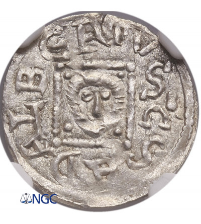 Polska. Bolesław IV Kędzierzawy 1146-1173. Denar ok. 1146-1157, Kraków - NGC MS 63