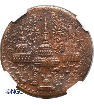 Tajlandia 1/2 Fuang (1/16 Baht) 1865 - NGC AU Details