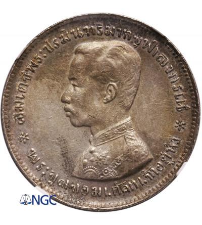 Tajlandia 1 Baht bez daty (1876-1900), Rama V - NGC AU Details