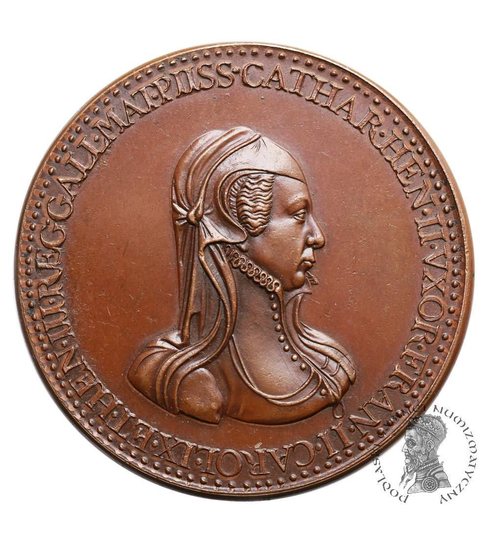 France. Bronze Medal Catherine de Medici and her sons