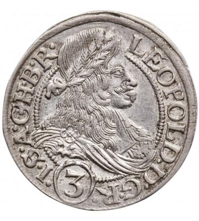 Śląsk / Austria (Święte Cesarstwo Rzymskie). 3 krajcary 1666 SHS, Wrocław, Leopold I