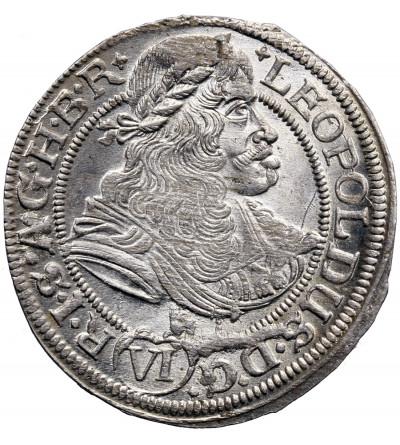 Śląsk / Austria (Święte Cesarstwo Rzymskie). 6 krajcarów 1673 SHS, Wrocław, Leopold I