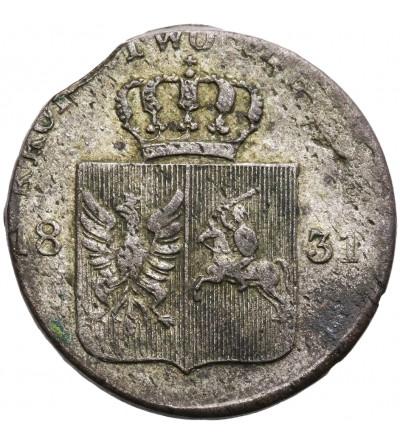 Poland. Revolution 1830-1831. 10 Groszy 1831, Warsaw mint