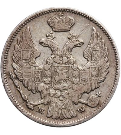Poland, Russian occupation. 15 Kopeks 1 Zloty 1839 MW, Warsaw mint