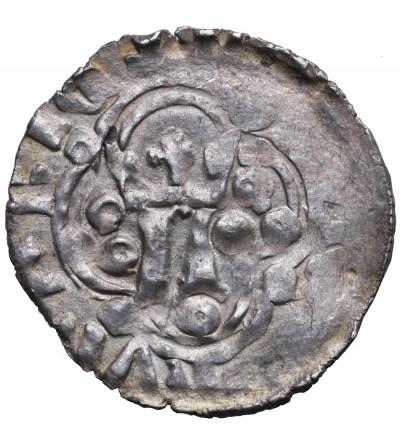 Polska, Ludwik I Andegaweński 1370–1382. Kwartnik ruski (1/2 grosza) bez daty, mennica Lwów