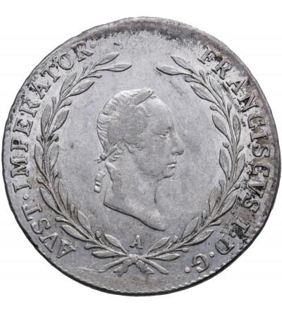 Austria 20 krajcarów 1827 A, Wiedeń, Franciszek I