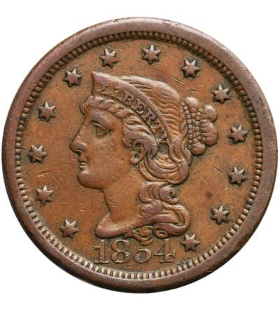 USA 1 cent 1854 (Braided Hair Cent)