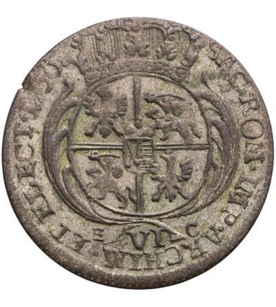 Poland / Saxony. Friedrich August II 1733-1763. Szostak (6 Groschen) 1756 EC, Leipzig mint.