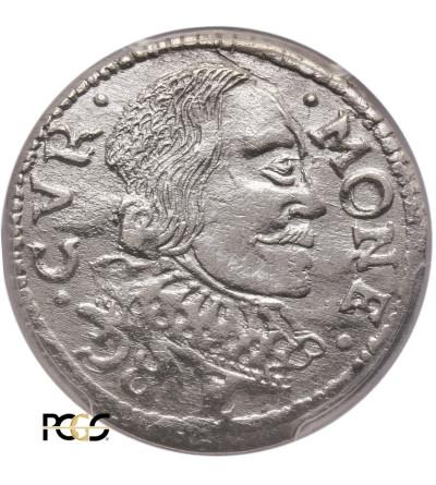 Kurlandia. Wilhelm Kettler 1596-1616. Trojak (3 grosze) 1599, Mitawa - PCGS UNC Details