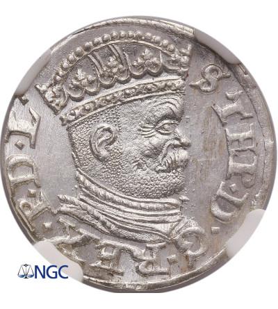 Poland. Stephan Bathory. Trojak (3 Groschen) 1586, Riga mint - NGC MS 64
