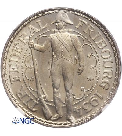 Szwajcaria 5 franków 1934 B, Fribourg - NGC MS 64