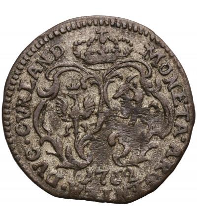 Courland / Kurland. Karl von Sachsen 1758–1763. Groschen 1762, Mitau