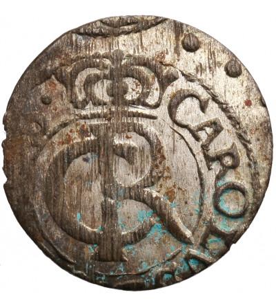 Ryga, okupacja szwedzka. Szeląg (Schilling) 1662, Karol XI 1660-1697