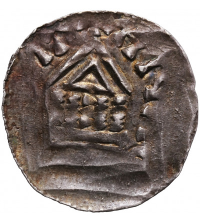 Francja. Lotaryngia. Biskupstwo Metz, AR denar bez daty, Theoderich II (Thierry II du Luxembourg) 1005-1046 AD