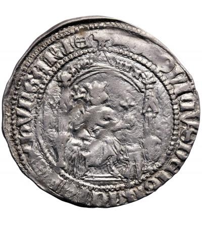 Węgry. Grosz węgierski ok. 1359-1364, Ludwik I Andegaweński (I. Lajos) 1342-1382