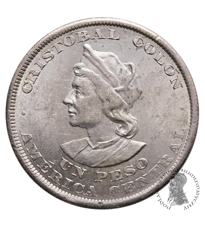 Salwador 1 Peso 1894 C.A.M, Kolumb