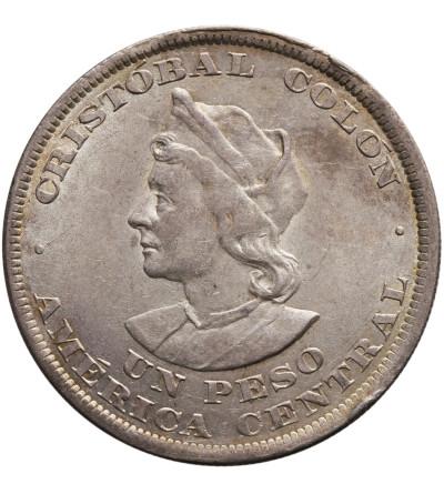 El Salvador Peso 1895 C.A.M., Columbus