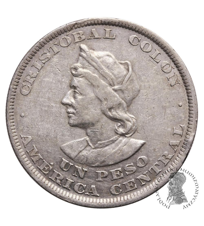 Salwador 1 Peso 1893 C.A.M, Kolumb
