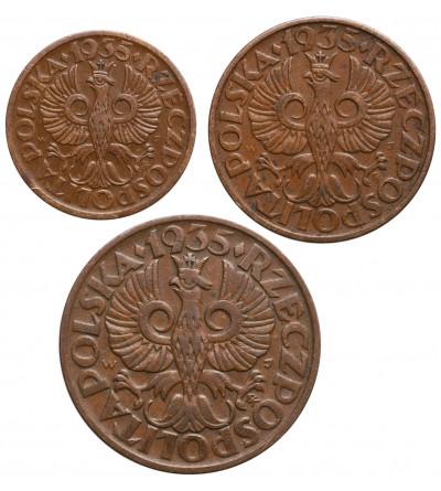 Poland 1,2,5 Ggroszy 1935, Warsaw mint