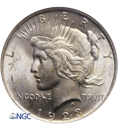 USA Peace Dolar 1923, Filadelfia - NGC MS 63