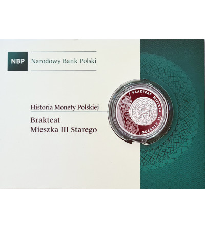 Poland 10 Zlotych 2014, History of the Polish Coins - Mieszko III Bracteate - Proof