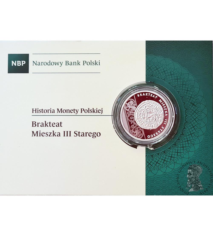 Polska 10 złotych 2014, Historia Monty Polskiej - Brakteat Mieszka III Starego