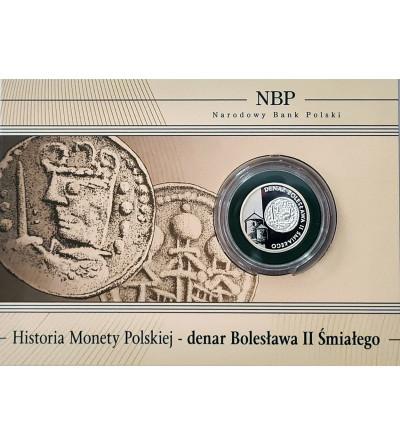 Poland 5 Zlotych 2013, History of the Polish Coins - Denarius of Boleslaw II Smialy