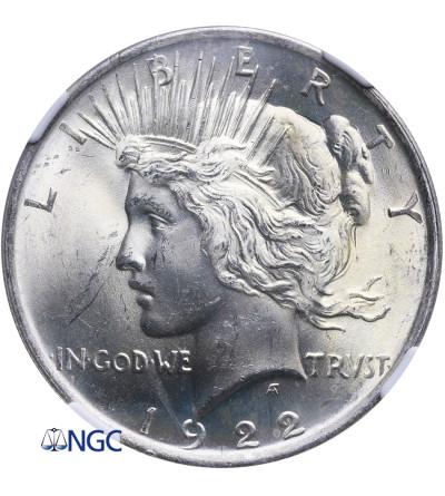 USA Peace Dolar 1922, Filadelfia - NGC MS 64