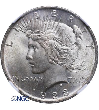 USA Peace Dolar 1923, Filadelfia - NGC MS 64