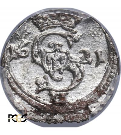 Polska. Zygmunt III Waza. Dwudenar 1621, Wilno - PCGS UNC MS 63