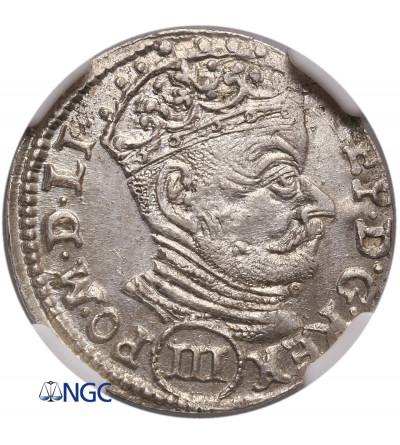Poland / Lithuania. Stefan Batory. Trojak (3 Grosze) 1580, Vilnius mint - NGC MS 63