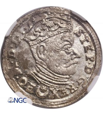 Poland / Lithuania. Stefan Batory. Trojak (3 Grosze) 1583, Vilnius mint - NGC MS 63