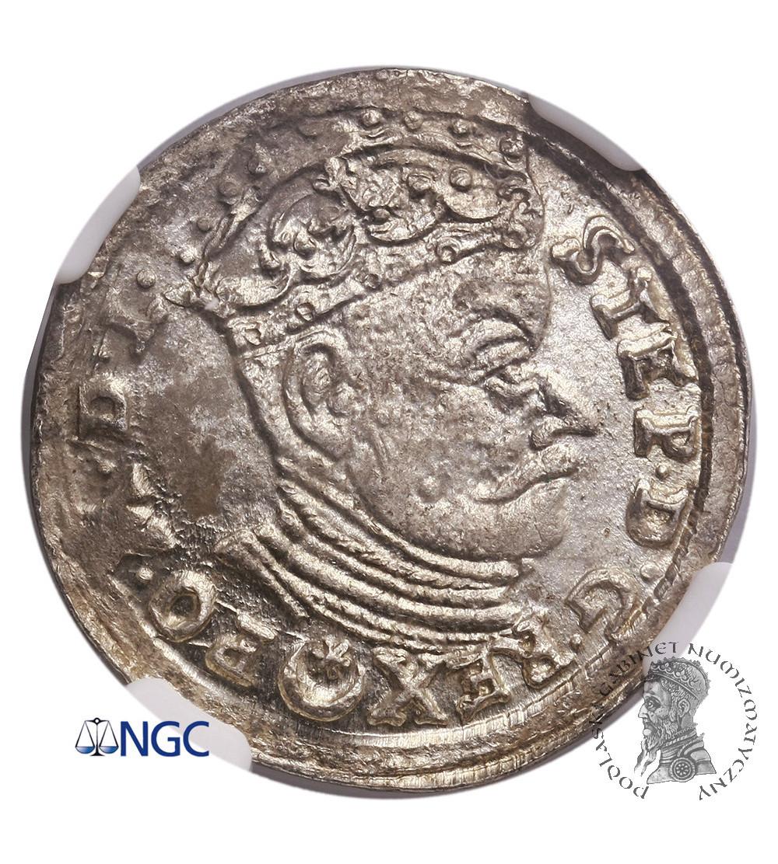 Polska. Stefan Batory. Trojak (3 grosze) 1583, Wilno - NGC MS 63
