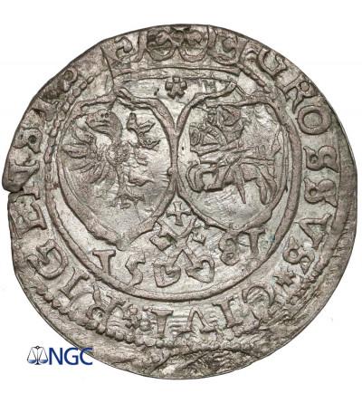 Polska. Stefan Batory. Grosz 1581, Ryga - NGC MS 63