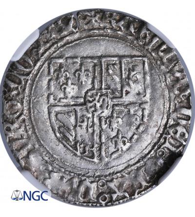 Niderlandy (Belgia), Flandria. Podwójny Patard bez daty, Brugia, Karol Śmiały 1467-1477 - NGC MS 61