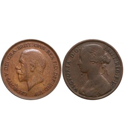 Wielka Brytania 1 Penny 1861, 1936 - zestaw 2 sztuki