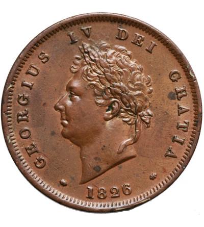 Wielka Brytania 1 Penny 1826, Jerzy IV 1820-1830