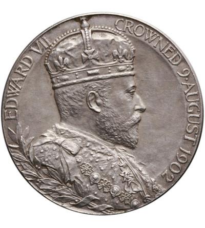 Wielka Brytania, oficjalny medal koronacyjny 9.08.1902, Edward VII
